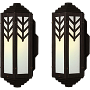 Antique Art Deco Exterior Sconces