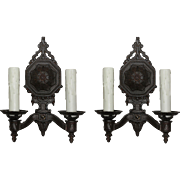 Antique Pair of Neoclassical Sconces, c.1920