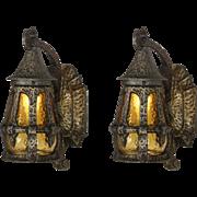 Antique Pair of Exterior Tudor Lanterns, Lincoln