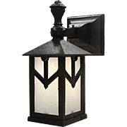 Antique Arts & Crafts Lantern Sconce, Early 1900's