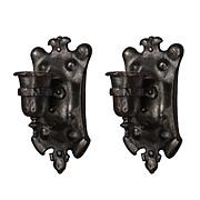 Spanish Revival Iron Sconce Pair, Antique Lighting