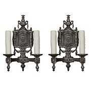 Antique Neoclassical Sconce Pair, Early 1900s
