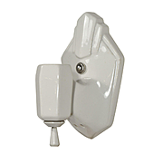 Art Deco Porcelain Bath Sconce, Antique Lighting