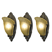 Antique Art Deco Slip Shade Sconces by Markel