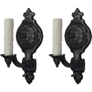 Antique Tudor Single Arm Sconces, Early 1900s