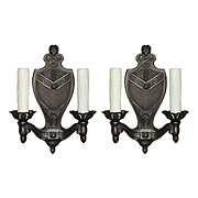Antique Spanish Revival Sconces by Markel, Early 1900s