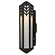 Art Deco Exterior Sconce in Cast Iron, Antique Lighting