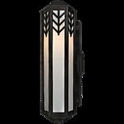 Art Deco Exterior Sconce in Cast Iron, Antique Lighting