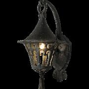 Tudor Wall-Mount Lantern Sconce, Lincoln Co.
