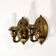 Charming Pair of Antique Single-Arm Sconces, c. 1910