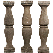 Antique Carved Sandstone Balusters, Early 1900s