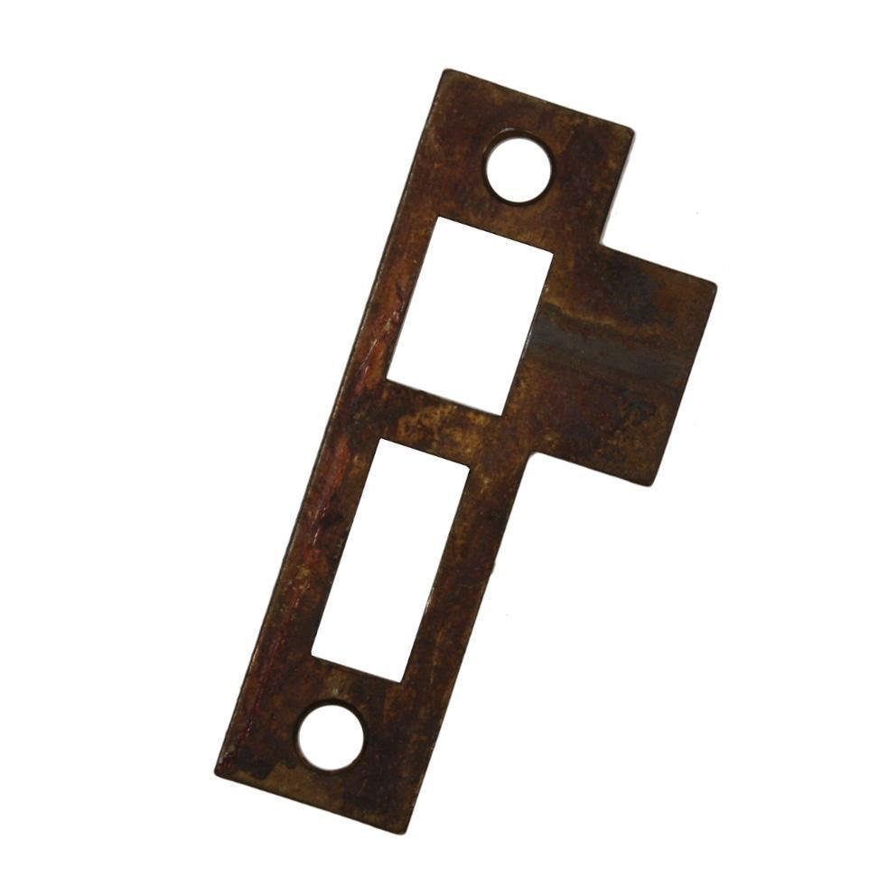 "Antique Strike Plates for Mortise Locks, 1/4"" Spacing"