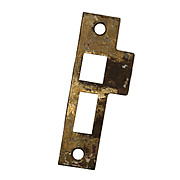 "Antique Strike Plates for Mortise Locks, 9/32"" Spacing"