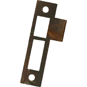 "Antique Strike Plates for Mortise Locks, 5/32"" Spacing"