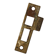 "Antique Strike Plates for Mortise Locks, 9/32"" Spacing"