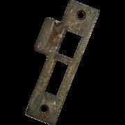 "Antique Strike Plates for Mortise Locks, 3/16"" Spacing"