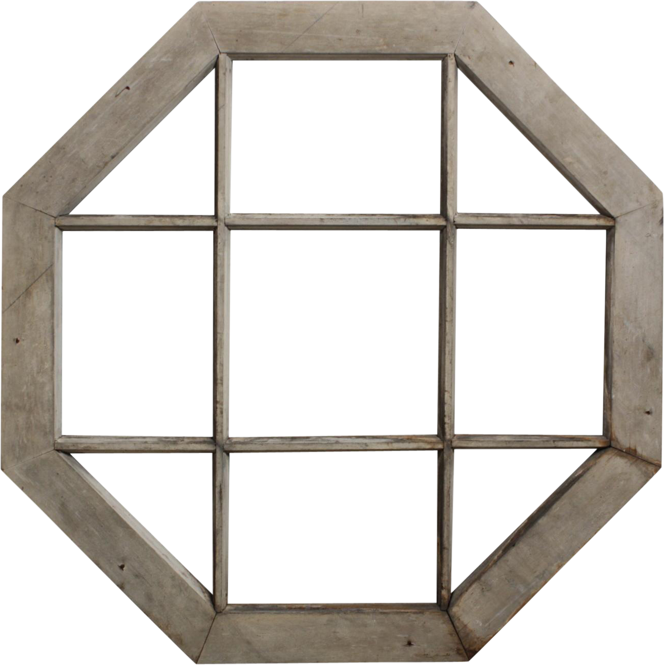 Wood Mullions For Windows : Charming antique octagonal window with wood mullions sold