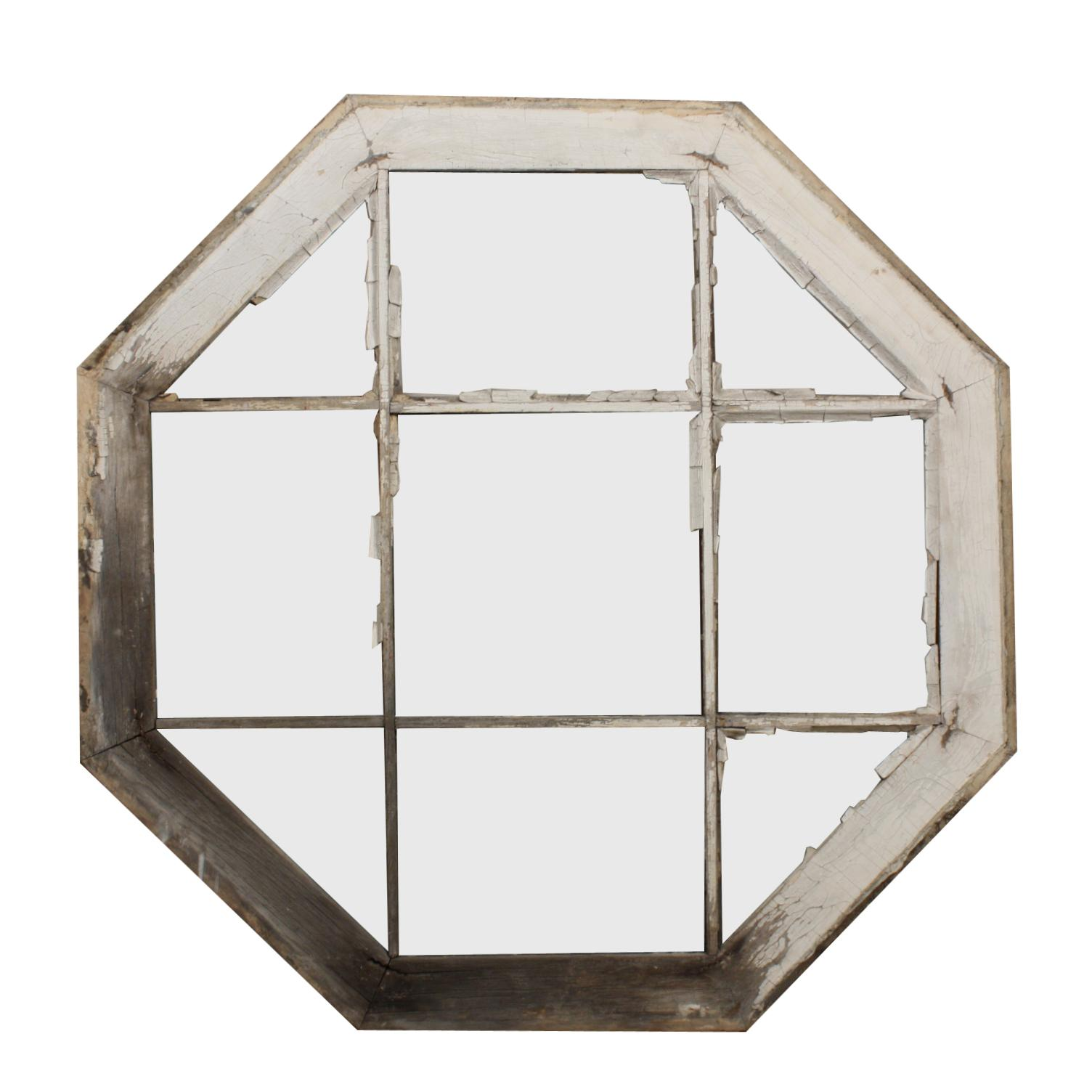 Wood Mullions For Windows : Charming antique octagonal window with wood mullions from