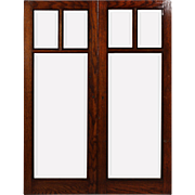 Antique Arts and Crafts Window Pairs with Beveled Glass