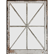 Antique Window with Unusual Mullions, Early 1900s