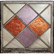 Antique Window with Diamond Mullions, Early 1900s