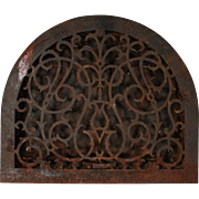 Antique Cast Iron Arched Wall Vent, Late 19th Century