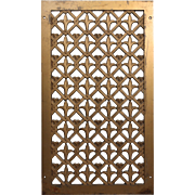 Antique Cast Bronze Wall Vent with Fleur-De-Lis, Early 1900s