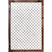 Antique Iron Wall Vents with Diamond Pattern, Early 1900s