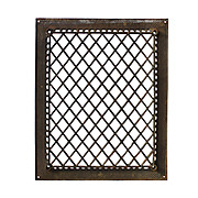 Antique Cast Iron Wall Vent with Diamond Pattern, Early 1900s