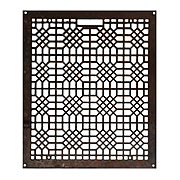 Antique Cast Iron Wall Vent with Geometric Pattern, Early 1900s