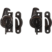 Antique Eastlake Window Locks in Cast Iron, c. 1880's