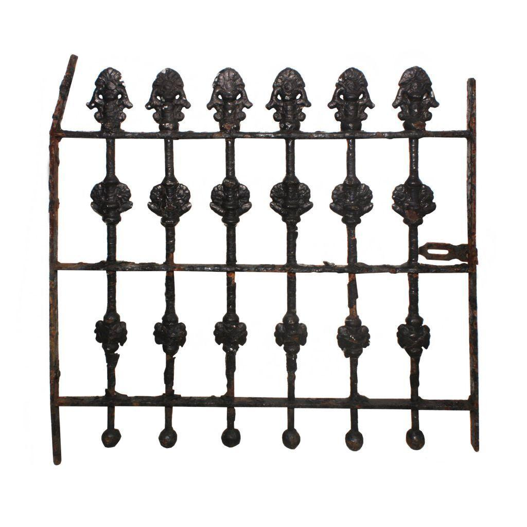 Delightful Antique Wrought Iron Window Guard, Early 1900s
