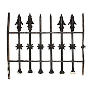 Antique Iron Window Guard with Moravian Stars