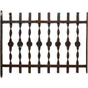 Antique Iron Window Guard, Early 1900s