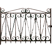 Antique Wrought Iron Window Gate, c. 1890's