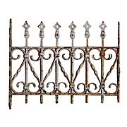 Antique Wrought Iron Window Guard, Late 1800's