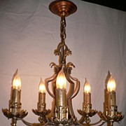Stunning Gold-Plate & Bronze-Wash  Antique Chandelier