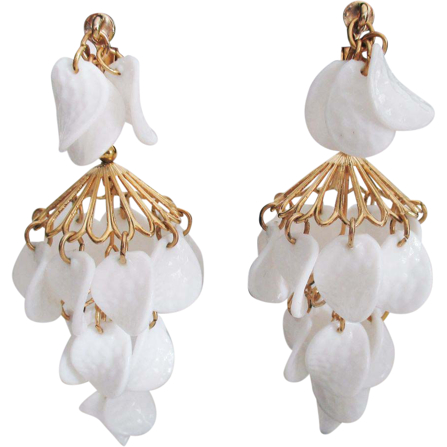 Vintage Signed NAPIER Chandelier Earrings