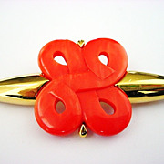 Vintage GIVENCHY signed and dated MOD Bold Brooch Pin