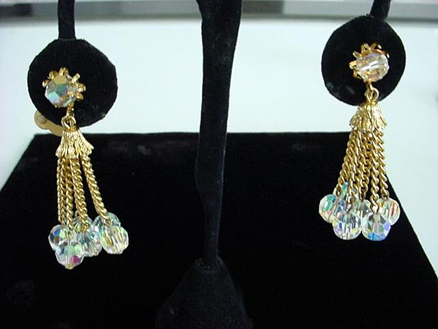 Aurora Borealis Crystal Chandelier Dangle Drop Earrings Fabulous Brilliance