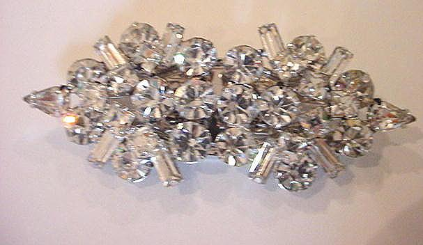 Circa 1930's Vintage Rhinestone Duette Brilliantly Flawless Sparkle