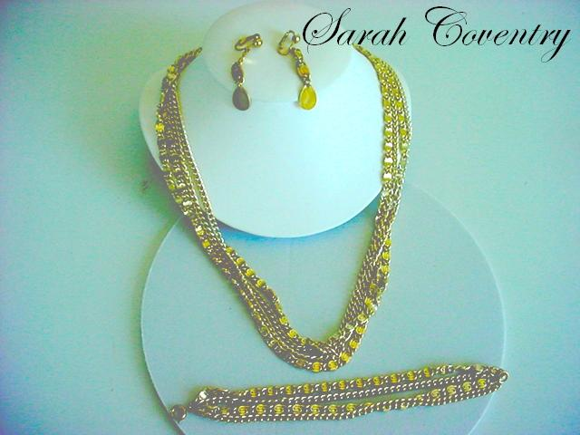 Vintage Signed SARAH COVENTRY  Parure