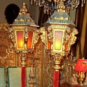Gondola styled Italian lanterns , pair