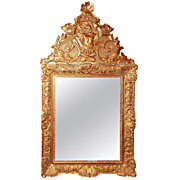 Regence  -  Louis Xv Style Giltwood Mirror