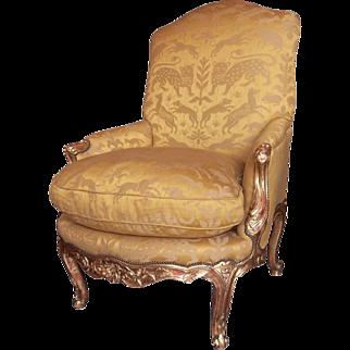 Louis XV StyleGiltwood Bergere or Armchair