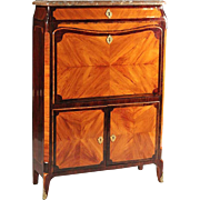 18th Century Signed , Stamped JME Louis XV Tulipwood And Amaranth Secretaire a Abattant