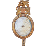 Early 19th Century Louis XVI Style Giltwood Barometer Case