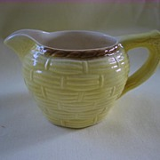 Small English Avon Yellow Creamer