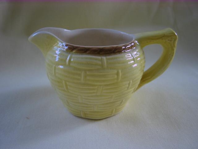 Small English Avon Yellow Creamer