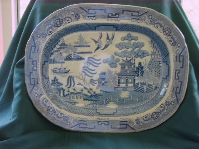 Large English Blue Willow Platter